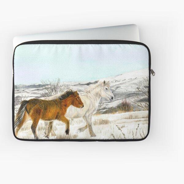 Winter Horses Watercolour Laptop Sleeve