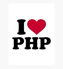 I love php Photographic Print