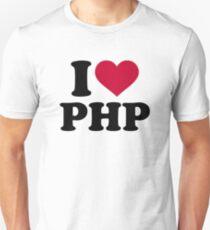 I love php Unisex T-Shirt