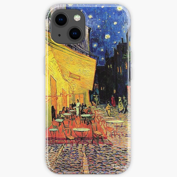 The Cafe Terrace on the Place du Forum, Arles, at Night,  Vincent van Gogh iPhone Soft Case