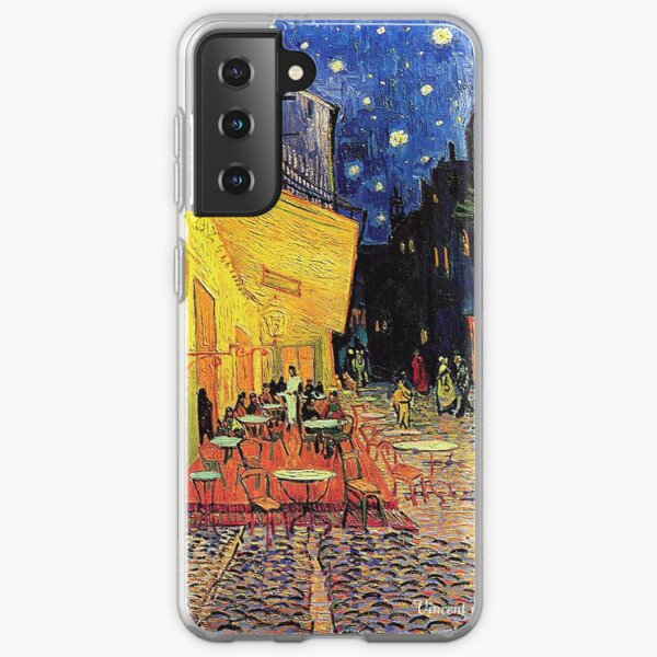 The Cafe Terrace on the Place du Forum, Arles, at Night,  Vincent van Gogh Samsung Galaxy Soft Case