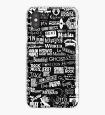 broadway baby {black and white version} iPhone X Case