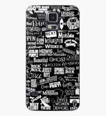 broadway baby {black and white version} Case/Skin for Samsung Galaxy