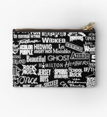 broadway baby {black and white version} Studio Pouch