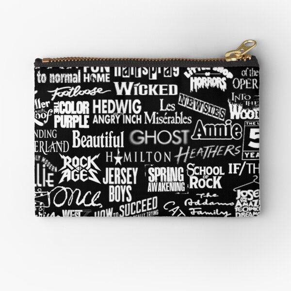 broadway baby {black and white version} Zipper Pouch