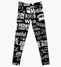 broadway baby {black and white version} Leggings