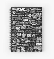 Cuaderno de espiral broadway baby {versión en blanco y negro}
