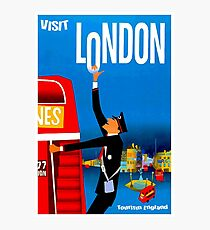 """VISIT LONDON"" Vintage Travel Advertising Print Photographic Print"