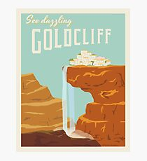 Goldcliff Travel Poster Photographic Print