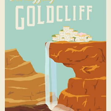 Goldcliff Travel Poster by atlasbeetles