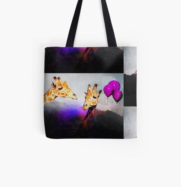 You Bet Giraffe All Over Print Tote Bag