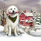 Great Pyrenees in the snow by Patricia Reeder Eubank