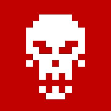 Pixel Skull by mannypdesign
