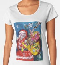 SANTA ,CHRISTMAS GIFT SACK AND TOYS Women's Premium T-Shirt