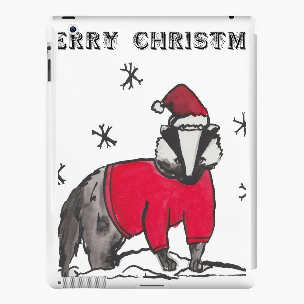 Land Weihnachtskarten - Dachs iPad-Hüllen & Klebefolien
