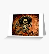 Posada Day of the Dead Outlaw Greeting Card