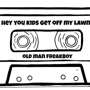 heykidsGOML B&W Cassette Tape Logo by OldManFreakboy