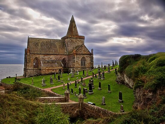 The Kirk - Scotland by Kathy Weaver