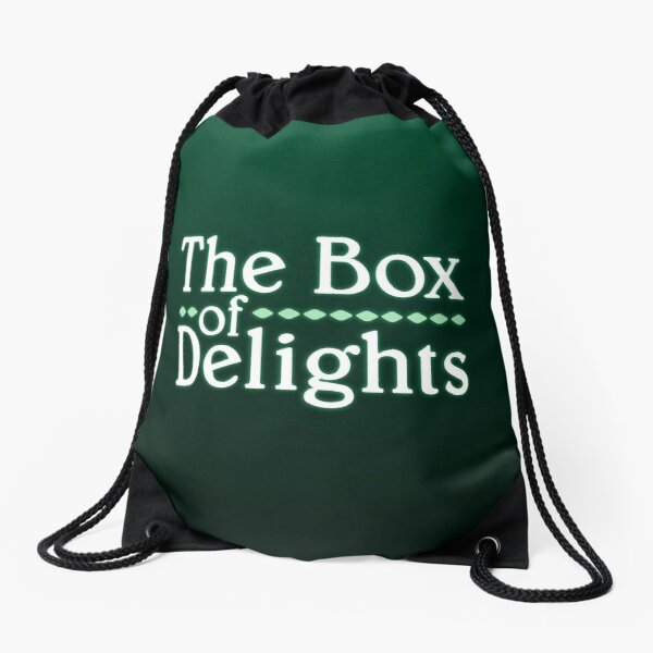 THE BOX OF DELIGHTS LOGO Drawstring Bag
