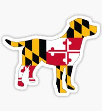Lab filled with love for Maryland! Sticker