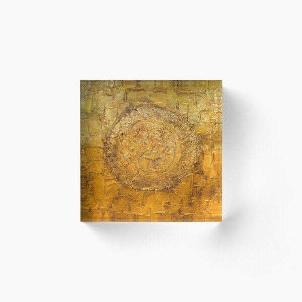 Mixed Media Abstract 1 Acrylic Block