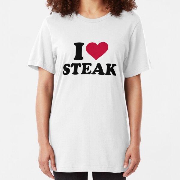I love Steak Slim Fit T-Shirt