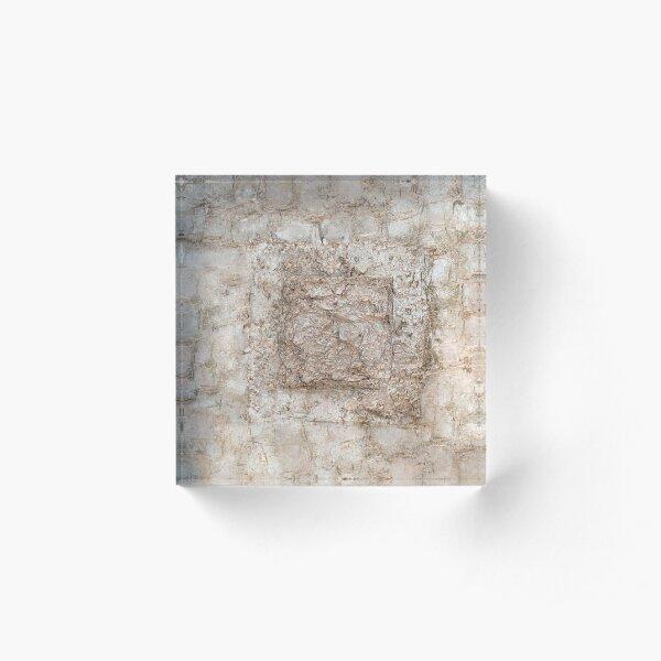 Mixed Media Abstract 2 Acrylic Block