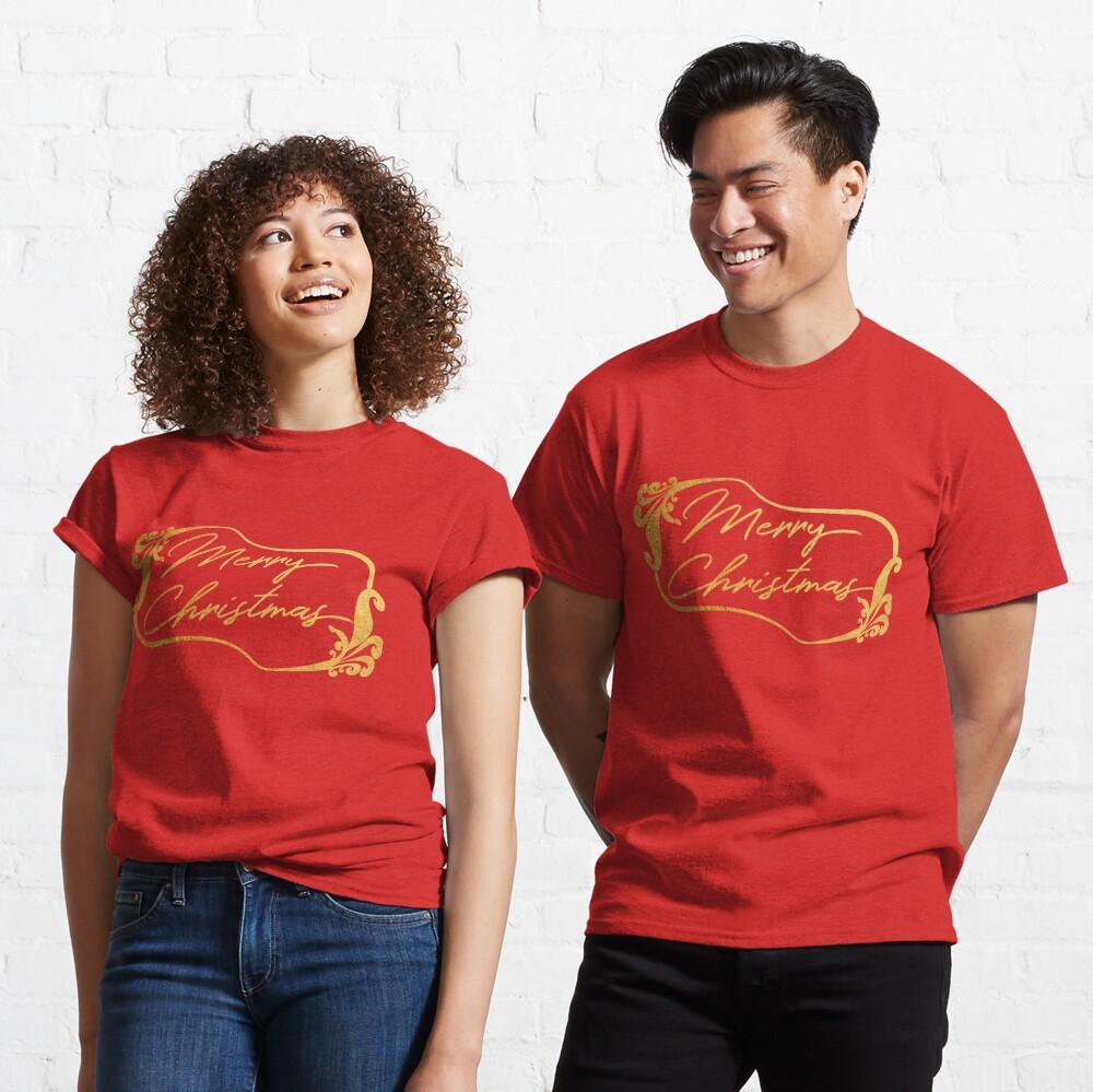 Golden Merry Christmas  Classic T-Shirt