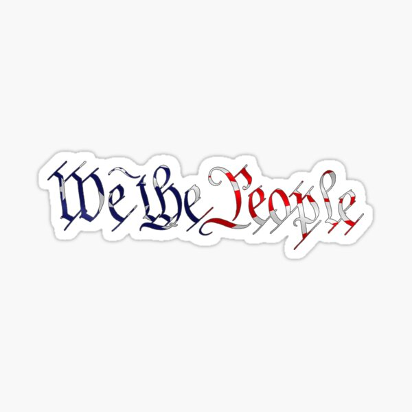We the People American Flag Sticker