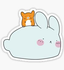 Hamster and White Bunny Sticker