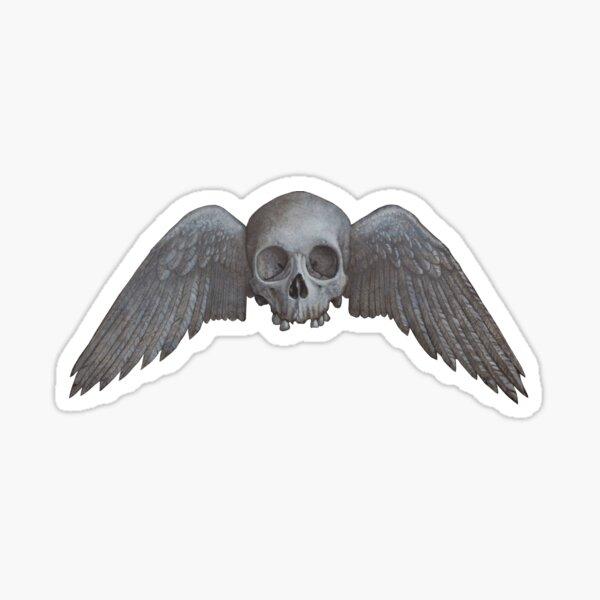 Winged skull Sticker