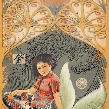 Collage of Oriental Mermaid by 3vaN
