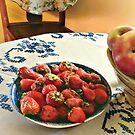 Plate Of Strawberries by Susan Savad