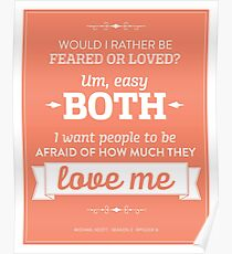 Dunder Mifflin The Office - Michael Scott Feared or Loved Poster
