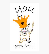 You!!!!!....pet the fur!!!!! Photographic Print