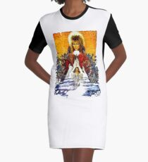 Labyrinth Poster Graphic T-Shirt Dress
