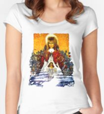 Labyrinth Poster Women's Fitted Scoop T-Shirt