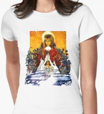 Labyrinth Poster Women's Fitted T-Shirt