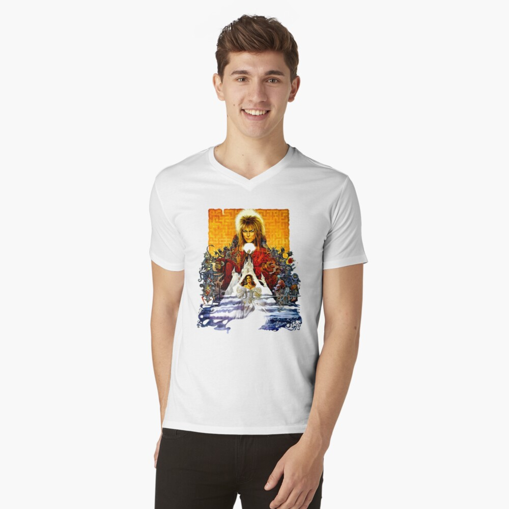 Labyrinth Poster V-Neck T-Shirt