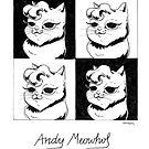 #meowdernart - Andy Meowhol by mariapaizart