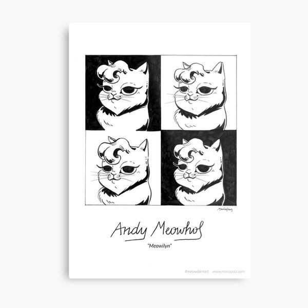 #meowdernart - Andy Meowhol Metal Print