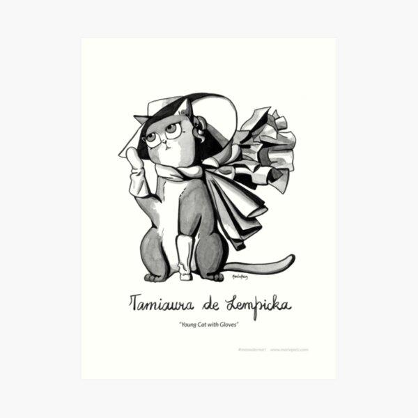 #meowdernart - Tamiaura de Lempicka Art Print