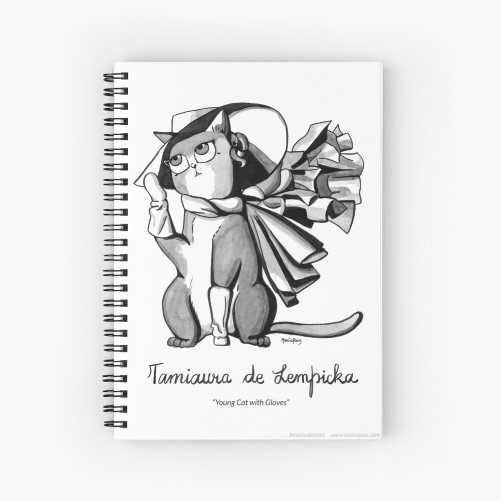 #meowdernart - Tamiaura de Lempicka Spiral Notebook