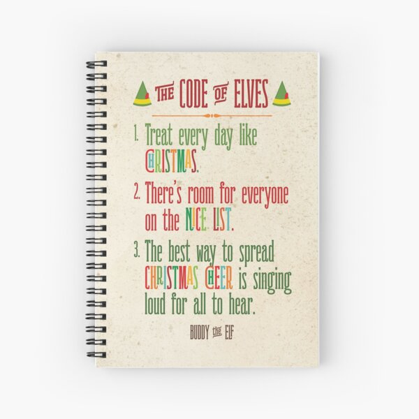 Buddy the Elf! The Code of Elves Spiral Notebook