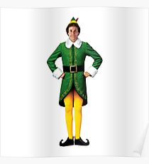 Buddy the Elf, Christmas Movie, Arms Akimbo Will Ferrell  Poster