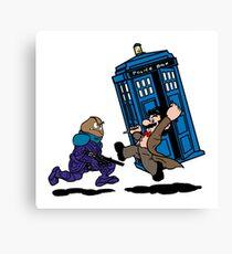 Doctor Mario Who Canvas Print