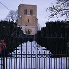 English Village Church in Winter by katiecornet