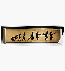 Darwin's Evolution of the Silly Walk Poster