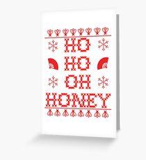 """HO HO OH HONEY"" Christmas Sweater Greeting Card"