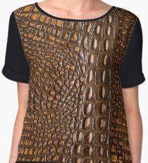 Aligator Crocodile Snake skin | texture  Women's Chiffon Top